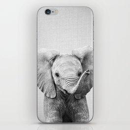 Baby Elephant - Black & White iPhone Skin