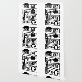 Eat Sleep Archery Repeat - Archery Arrow Bow Hunt Wallpaper
