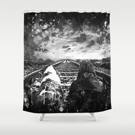 wanderlust wsbw Shower Curtain