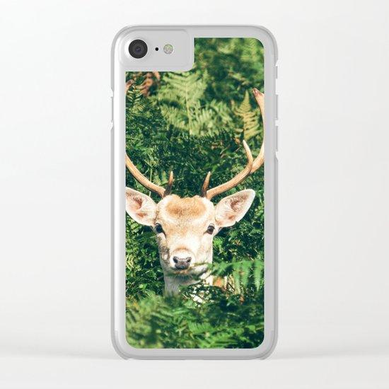 deer cerf 4 Clear iPhone Case