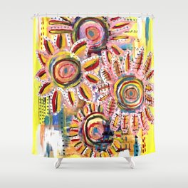 Floral Field Shower Curtain