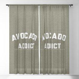 Avocado Addict Funny Quote Sheer Curtain