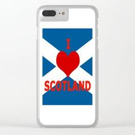Scotland Flag Saltire Clear iPhone Case