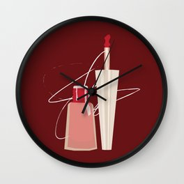 When Red Meets RED Wall Clock