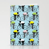 cycling Stationery Cards featuring Cycling by Mix Match Make