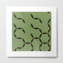 #92 Circular spring – Geometry Daily Metal Print