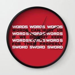 WORDS Wall Clock