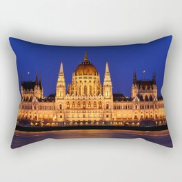Panorama view of the famous Hungarian Parliament Rectangular Pillow