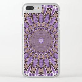 Toothed Mandala Clear iPhone Case