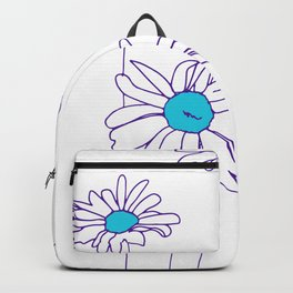 Simple Daisy | Line Drawing Backpack