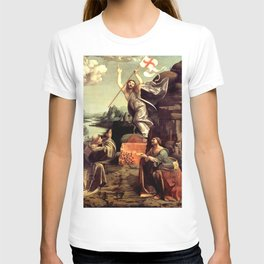 """Giovanni Antonio Boltraffio """"The Resurrection of Christ with the Saint Leonard of Noblac and Lucia"""" T-shirt"""