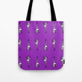 Skeletal Hand Purple #Halloween Tote Bag