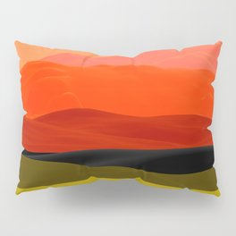 Mountains in Gradient Pillow Sham