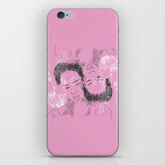 Korean faces pattern pastel pink iPhone & iPod Skin