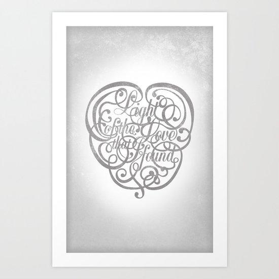 Light of the Love Art Print