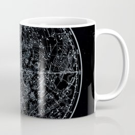 Northern Hemisphere Constellations White Blue Coffee Mug