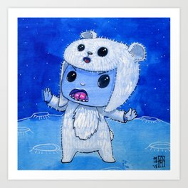 Moonkhin Iridum Snow Art Print