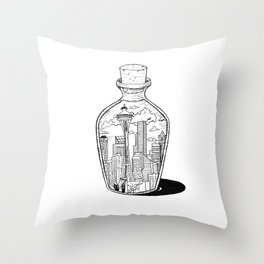 Seattle in a bottle Throw Pillow