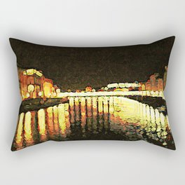 Arno River of Night Rectangular Pillow