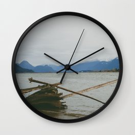 River and Mountains Wall Clock