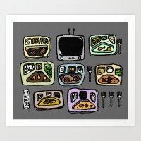 Family of Five Art Print