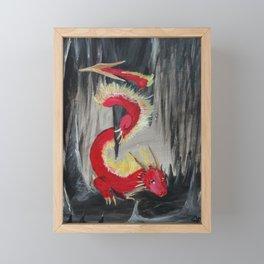 Fire Cavern Dragon Framed Mini Art Print