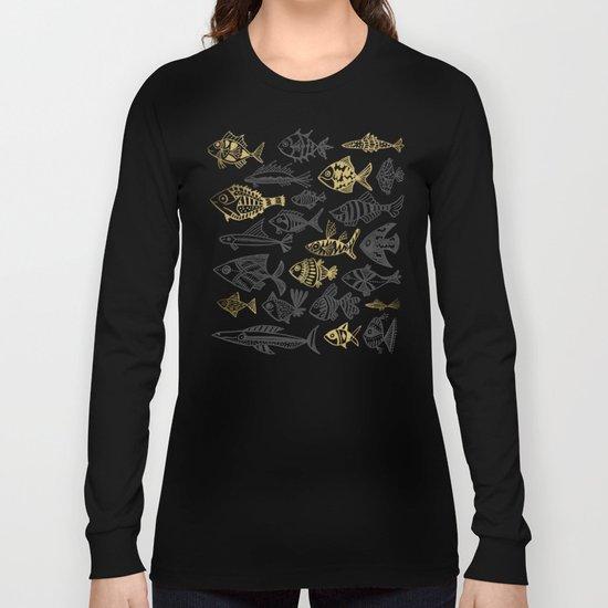Inked Fish – Black & Gold Long Sleeve T-shirt