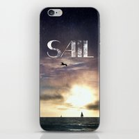 sail iPhone & iPod Skins featuring SAIL by Grafikki Shop