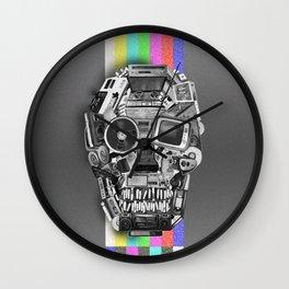 retro tech skull 3 Wall Clock