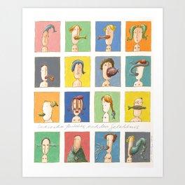 Sixteen Portraits from Memory (Sechszehn Porträts nach dem Gedächtnis) Art Print
