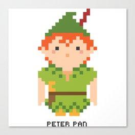 Peter Pan Pixel Character Canvas Print