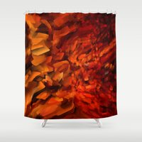 blood Shower Curtains featuring Blood by Paul Kimble