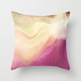 Orchid Pastel Abstract Throw Pillow