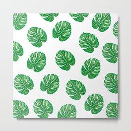 Palm Leaf / Monstera Leaf Metal Print