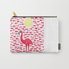Pink Pretty Flamingo Pattern Carry-All Pouch