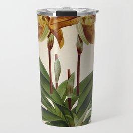 Cypripedium crossianum old plate Travel Mug