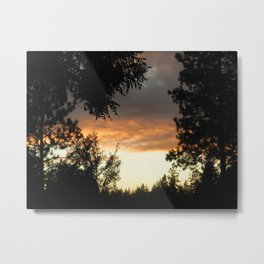 Gold Country Sunsets Metal Print