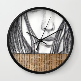 Reading a book Wall Clock