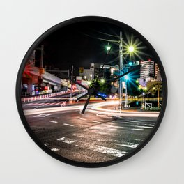 Narita light-trails Wall Clock