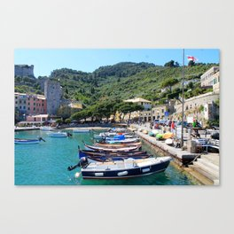 Boats in a Line Canvas Print