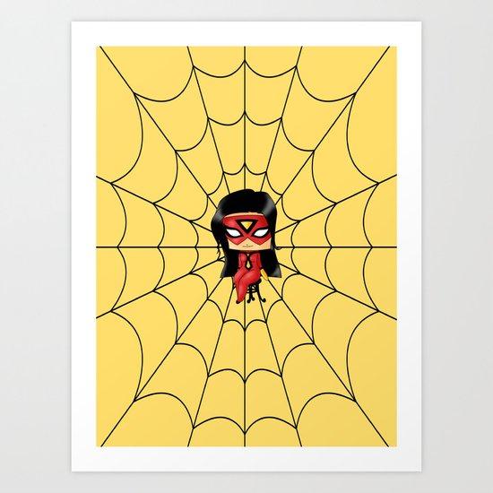 Chibi Spider Woman Art Print