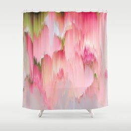 Artsy abstract blush pink watercolor brushstrokes Shower Curtain