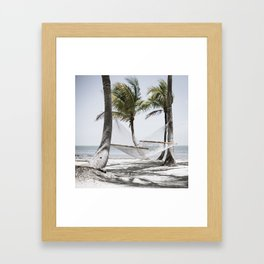 Your Hammock is Waiting Framed Art Print