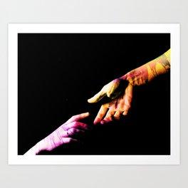 Hold hands Art Print