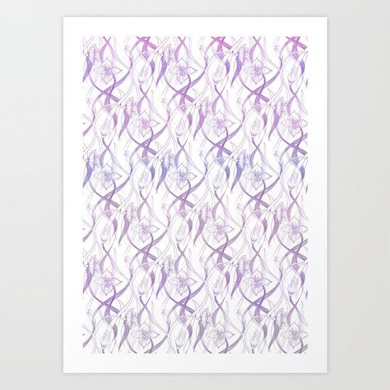 Floral Pattern - Purple Art Print