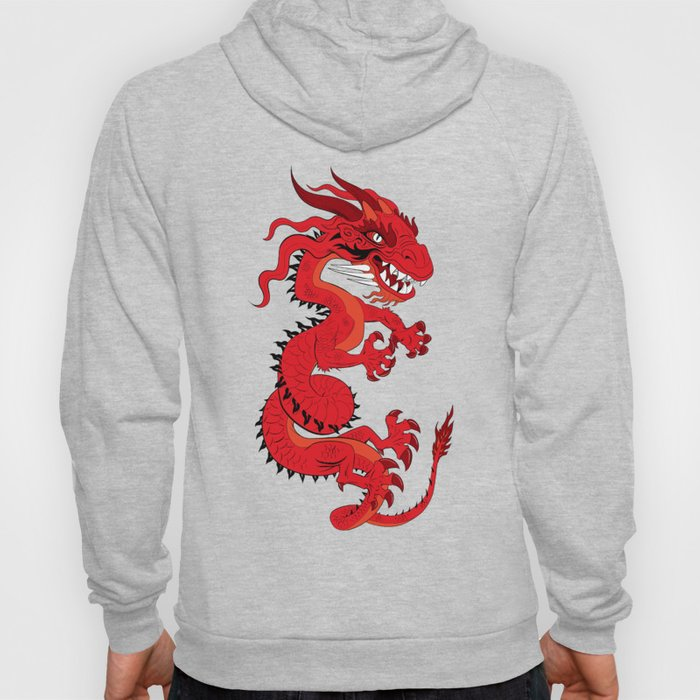 Red Dragon with Teal Hoody