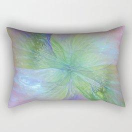 Mystic Warmth Abstract Fractal Rectangular Pillow