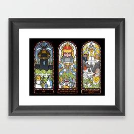 Windows of Aaarrgggh Framed Art Print