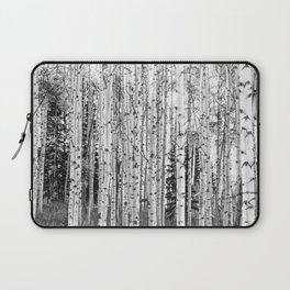 Forest in Black & White Laptop Sleeve