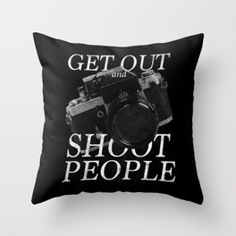 Photography Puns Throw Pillow